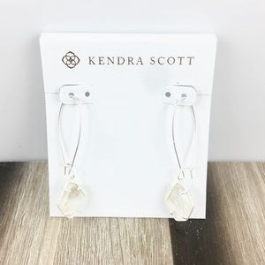 Kendra Scott Ellington white abalone earrings
